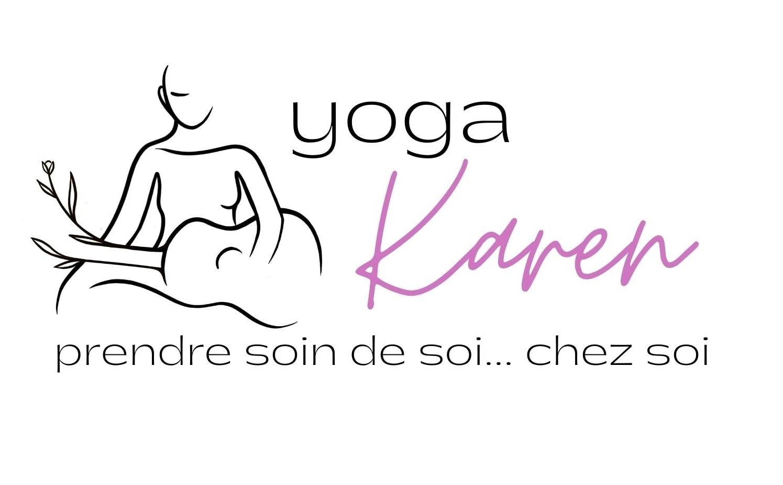 Yoga Karen logo Prendre soin de soi rose